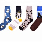Mens cotton space ape animal novelty happy funny socks custom high quality