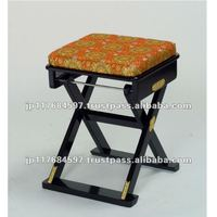 light weight folding chair with brocade fabric