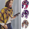 Fashional tartan plaid woven oversized fringe scarf blanket shawl wrap