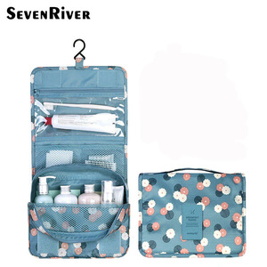 Portable Cosmetic Organizer Bag Travel Foldable Hanging Toiletry Bag