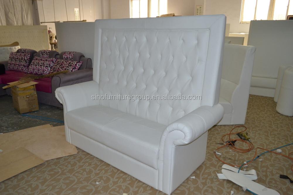 Made From Sinofur Best Sale Loveseat White Wedding Sofa