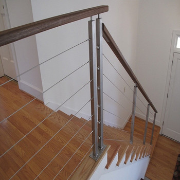 Modern Stainless Steel Stair Handrail Cable Wire Rod Railing For Outdoor