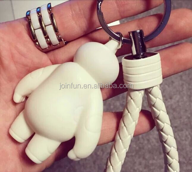 2015 American Movie Big Hero 6 Baymax keychain,New design big hero baymax keychain,Popular hot selling Vinyl keychain