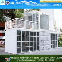 Outdoor Coffee Kiosk Overseas Shipping Containers