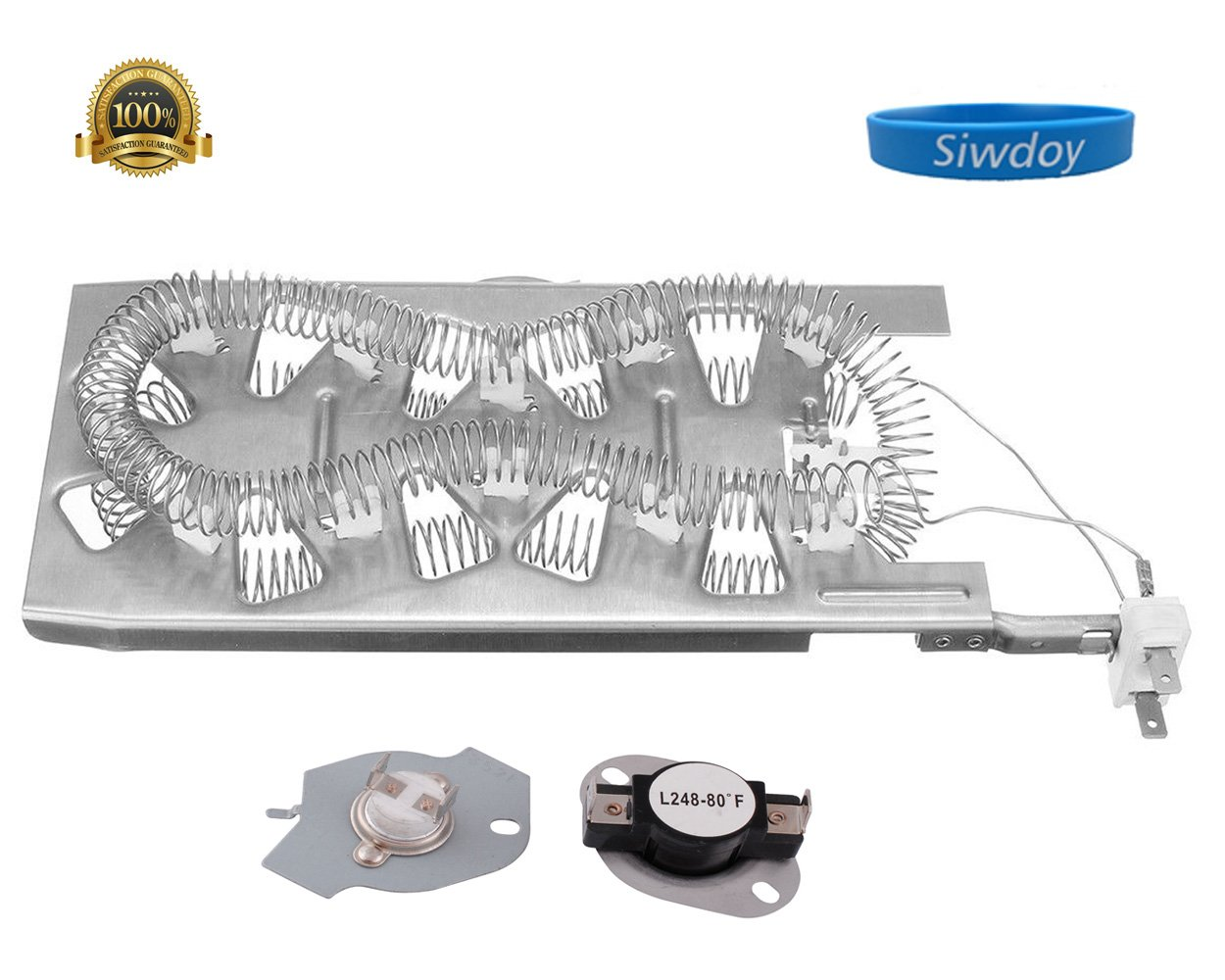 Get Quotations · Siwdoy 3387747 Dryer Heating Element and 279769 Thermal  Cut-Off Fuse & Thermostat Kit for