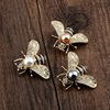 New Design Cute Bee Brooch Pin Exquisite Alloy Accessories Beetle Brooch Women Jewelry Wholesale