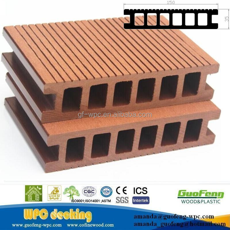 De espesor de madera de pl stico compuesto decking del wpc for Timber decking thickness