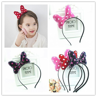 Beautiful Cute Children Spotted Bowknot Hairband For Kids Wholesale