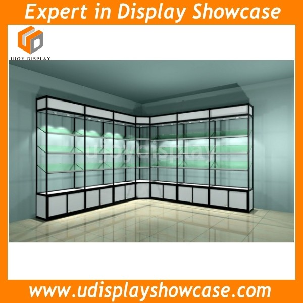 Wall Mount Glass Display Cabinet Corner Showcase High Cabinets ...