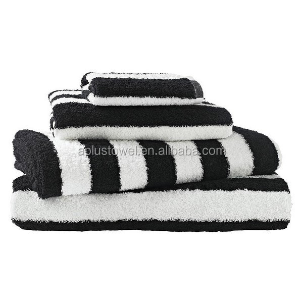 black and white towels bathroom 100 otton plain terry striped black white bath towels 22757