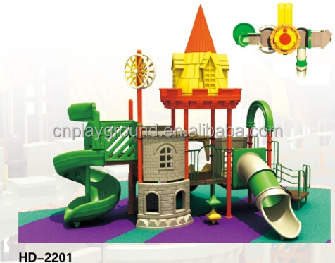 castle theme children's outdoor playground