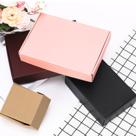 China Wholesale Recycled folding kraft <strong>eco</strong> corrugated small square cardboard paper boxes