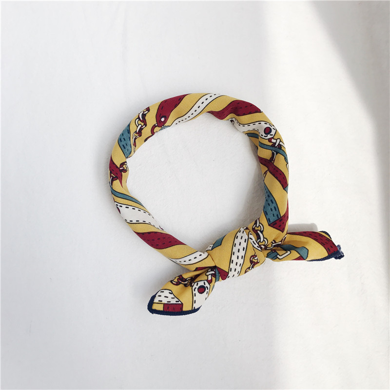 2018 Hot sale popular lady scarf polyester printed small scarf