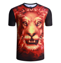 2017 custom printed polyester T shirt 3d sublimation printing men t shirt wholesale