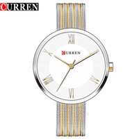 2017 CURREN 9020 Curren Women Bracelet Watches Ladies Famous Brand Dress Watches