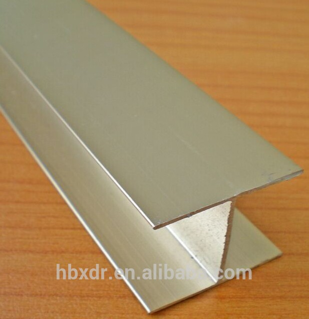 customized 6000 series natural anodized H shape U channel aluminum profile