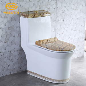 Simple and generous floor siphon flusing porcelain bowl colored toilet water closet price