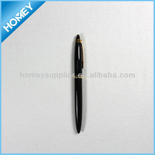 low MOQ black metal roller pen