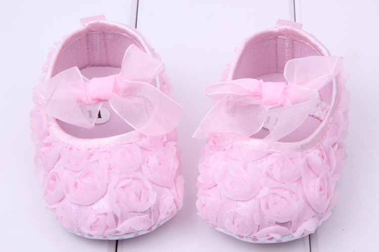e60320dabe8 Beautiful Pink Princess Baby Shoes