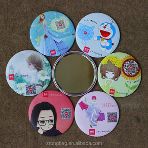 Custom gift pocket mirror cheap small souvenir cosmetic mirror novelties mirror promotional gift