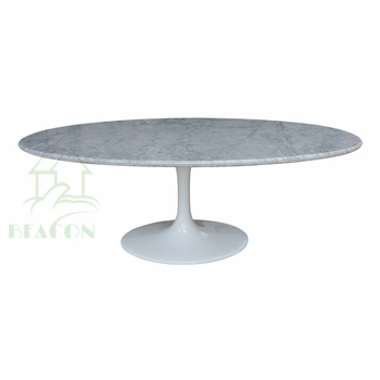 Replica Saarinen Oval Granite Marble Top Conference Dining Tulip Table