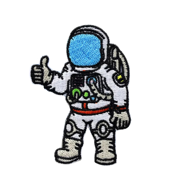 Cute astronaut design custom embroidery patch for kids wear