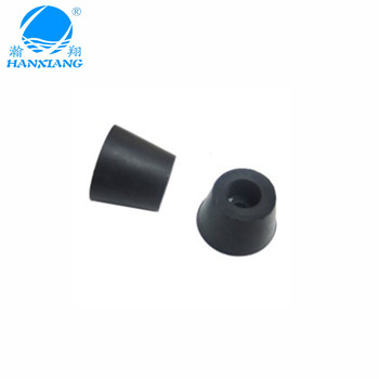 Chinese manufacturers custom black cone anti-slip rubber feet for equipment/machine