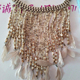 Feather models handmade stringed glass millet beads bohemian style short necklace jewelry