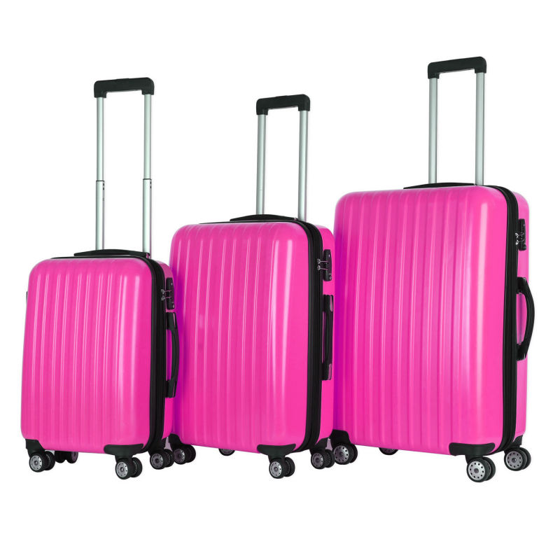Best Cheap Customized Brand Unique Designer Pink Luggage Set - Buy ...