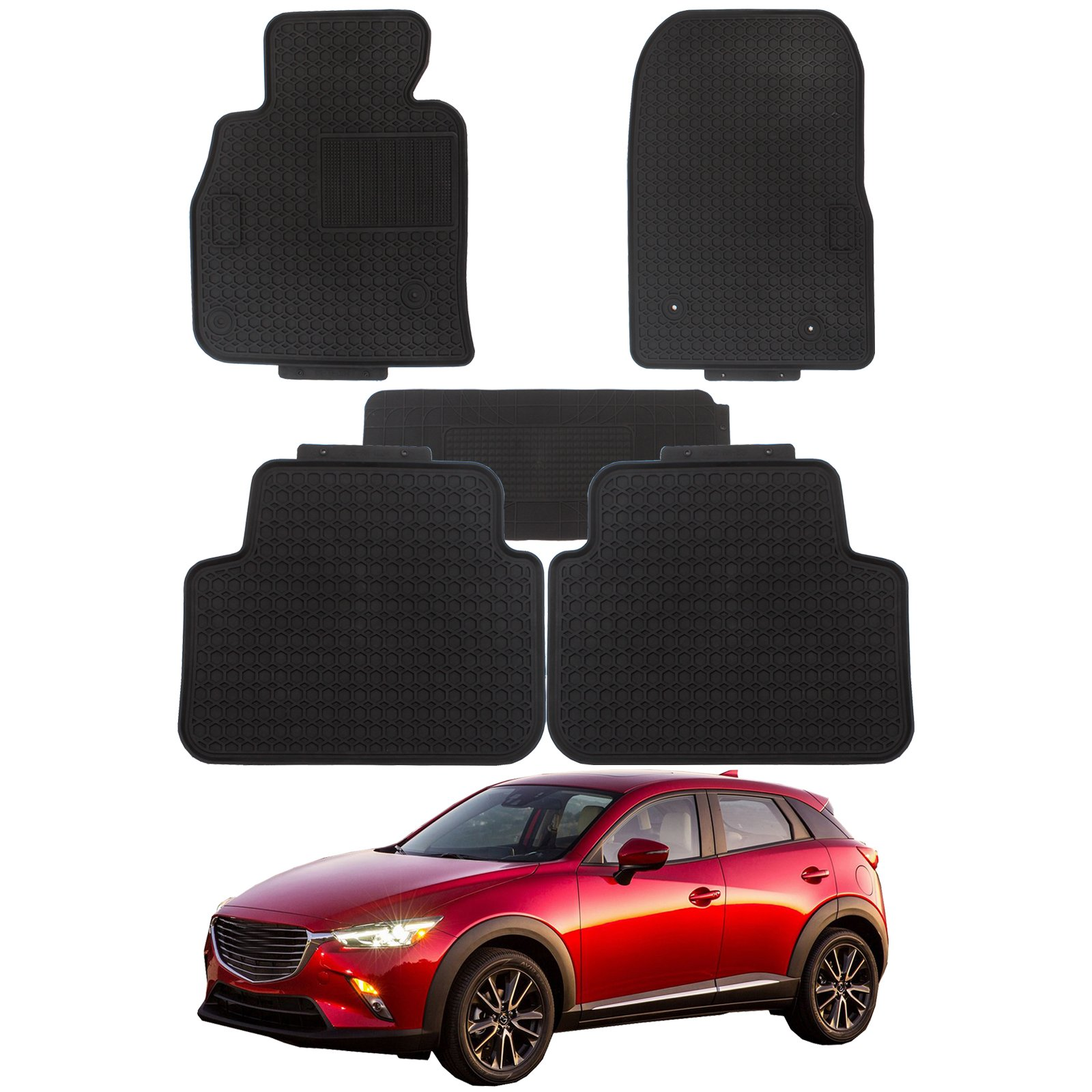Get Quotations · Mazda 3 Floor Mats Durable Breathable Floor Liners PVC  Latex fit 2016 2017 Mazda 3 Black