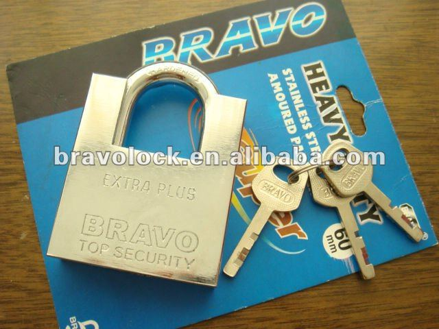 SHACKLE PROTECTED IRON PADLOCK