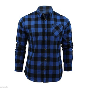 Wholesale high visibility casual fashion man mens plaid flannel shirts