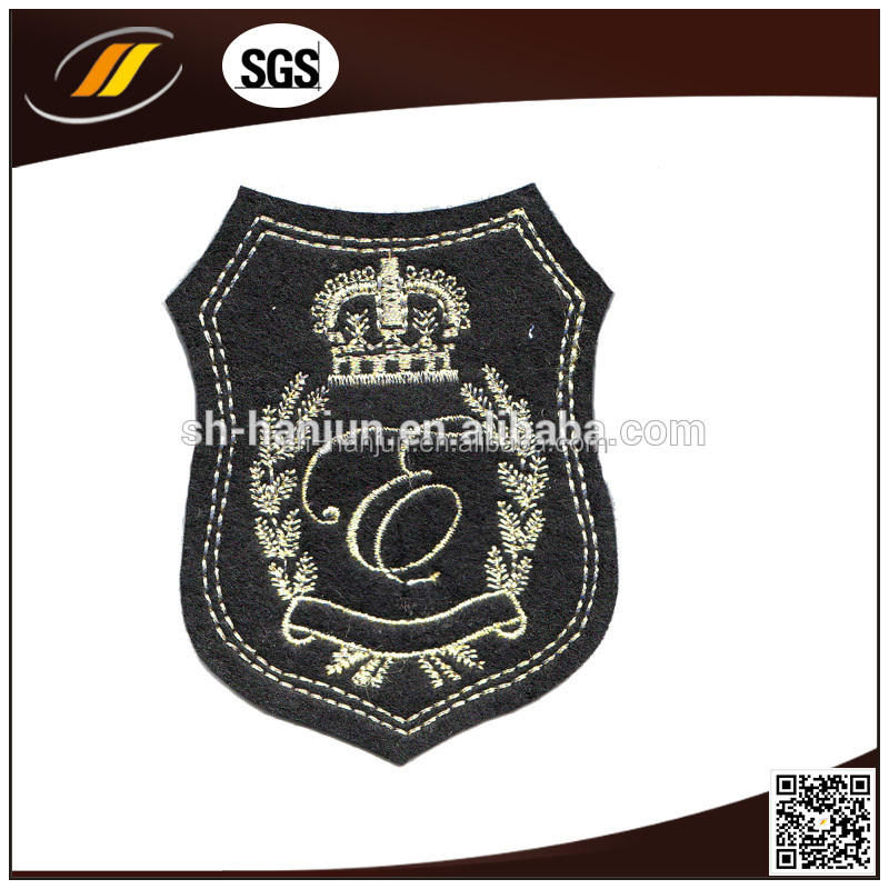 Custom Logo Iron on Polyester Self Adhesive Fabric Patch