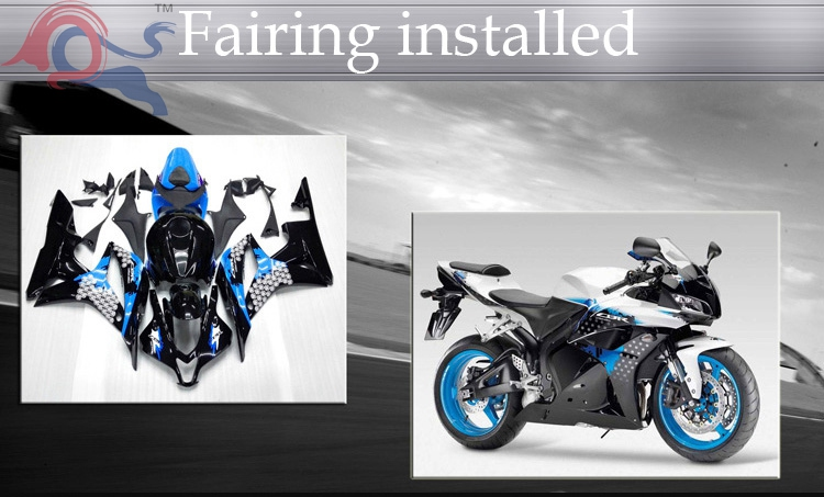 blue black Body motorcycle cowl for Kawasaki ZX-10R 2004-2005 04 05 ZX-10R 2004 2005 04-05 ABS Plastic Fairing