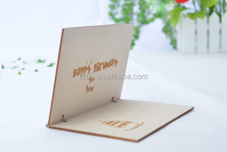 wood plain mdf craft post card wooden greeting card  buy high, Greeting card