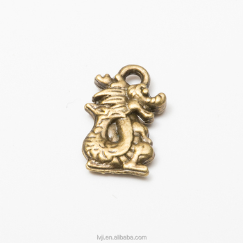 Best selling 12 Chinese zodiac sign Dragon charms zinc alloy for necklace