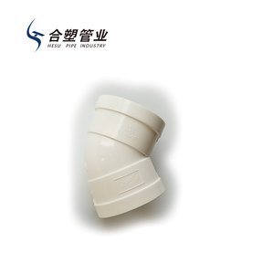 Professional Manufacture PVC Tube Fittings Plastic Drain Elbow Schedule 45 Degree for Water Drainage