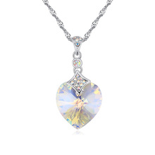 top quality 18K white gold plated necklace made with Swarovski elements crystal