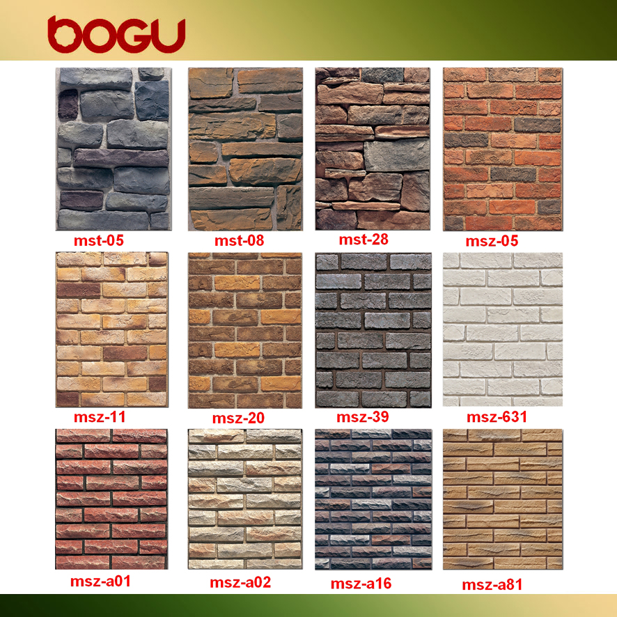Faux Stone Artificial Cement Clinker Outdoor Decorative Brick Wall ...