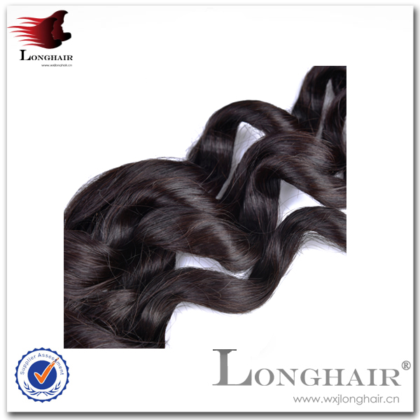 "Good-Looking Affordable Price 30"" Natural Black(#1b) Wave Brazilian Virgin Hair Wefts"