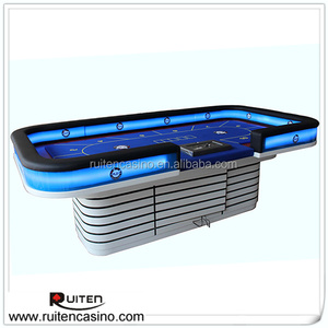 Deluxe LED Poker Table Texas Holder Poker Tables Professional Poker Table