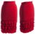 High-waisted Poly/Spandex Stretch Fabric Frill Ruffles Layering Pencil Skirt