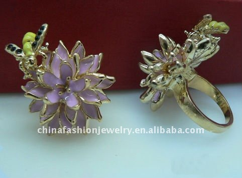Fashion Bee and Enamel Flower Rings Jewelry in 2011
