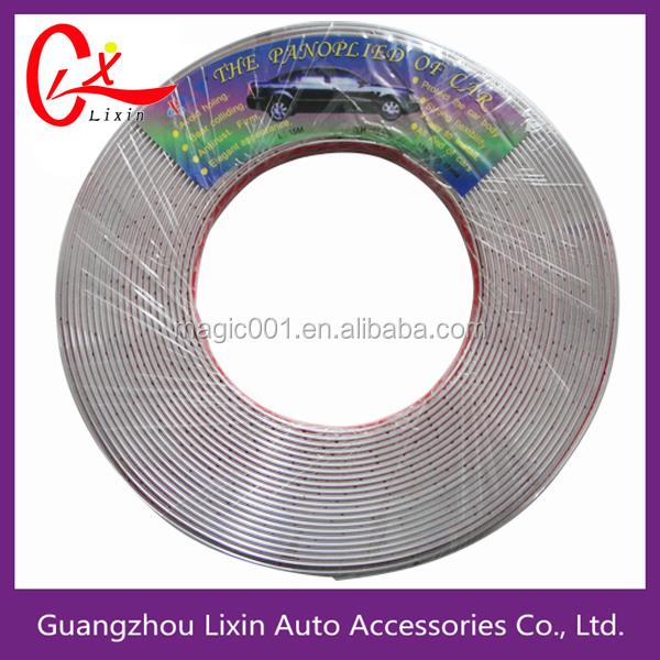 25mm x 5M Chrome Molding Trim Strip PVC Car Styling Decoration Tape Adhesive