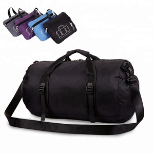 Waterproof Nylon Foldable Duffel Bag Gym Folding Sport Travel Bags for women