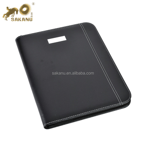 PU A4 Zipped Conference Folder/Portfolio with Calculator/Pad