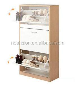 cheap price melamine MDF shoe cabinet/shoe rack