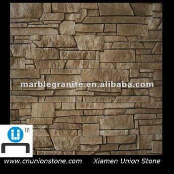 Chinesisch Innendekoration Braune Farbe Leiste Natur Steinmauern Stein