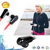 stereo bluetooth sport flat cable earphone with mic
