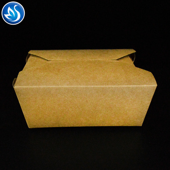 EcoFriendly disposable square food packaging noodle pasta paper box